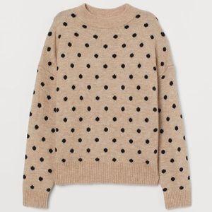 NWT H&M Polka Dot Fine Knit Sweater